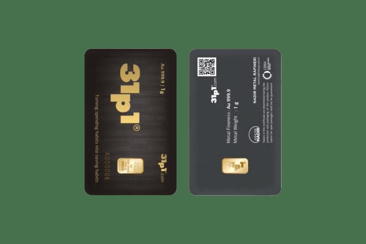 1 gram gold bar price