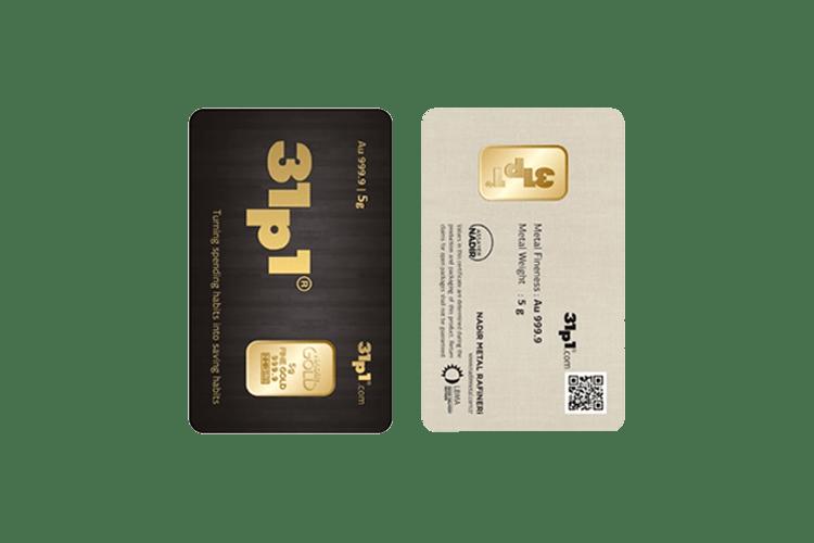 5 gram gold bar price