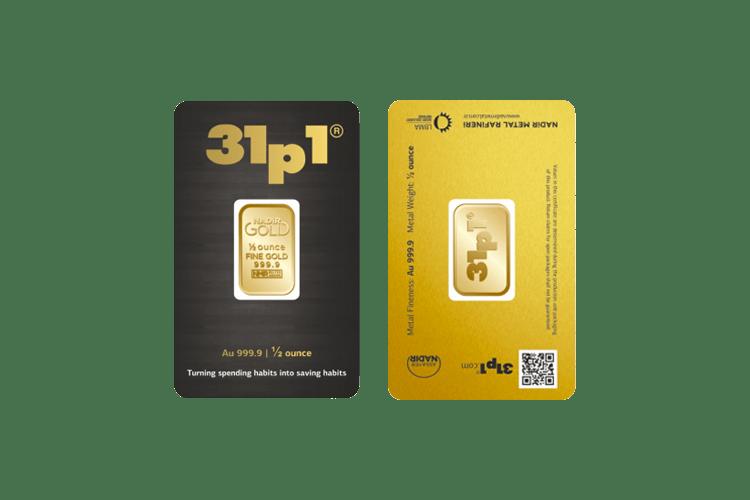 half ounce gold bar price